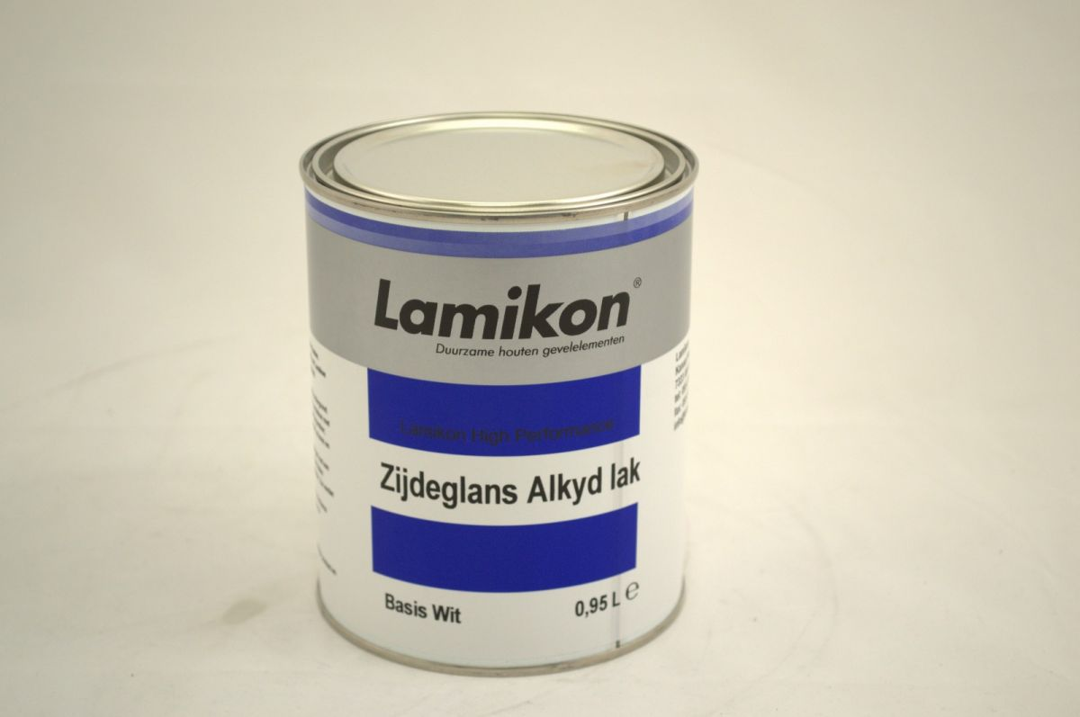 lamikon zijdeglanslak alkyd wit 1 ltr